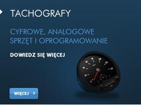 Tachografy - cyfrowe, analogowe. Sprzęt i oprogramowanie.